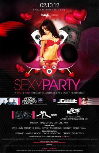 SEXY PARTY w/ Hot Pink Delorean, J. Rabbit, SPL @ Studio 7