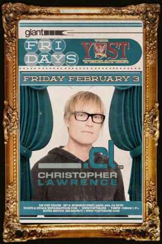 Christopher Lawrence @ Yost Theater