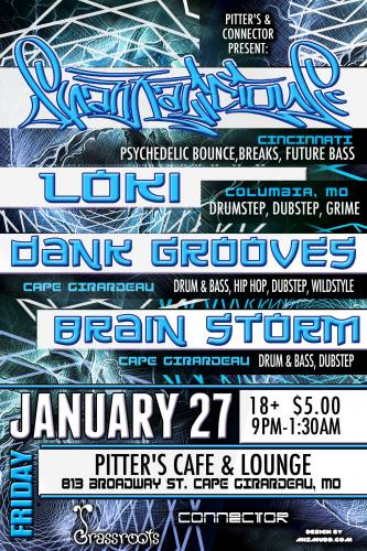 Spankalicious + Loki + Dank Grooves @ Pitters in Cape Girardeau