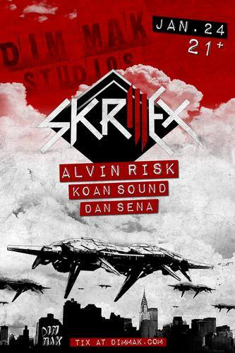 Skrillex @ Dim Mak Studios