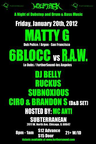 Matty G & 6 Blocc @ Sub T - 1/20