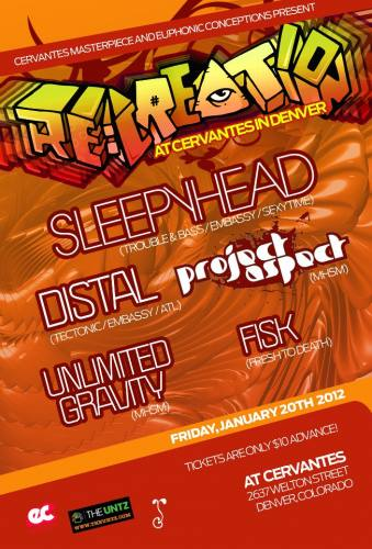 RE: Creation ft. Sleepyhead w/ Project Aspect, Unlimited Gravity and Distal