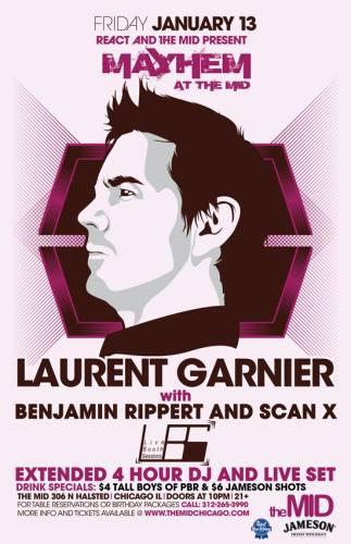 1.13 Laurent Garnier + 4 hour set - Mayhem at The Mid Chicago
