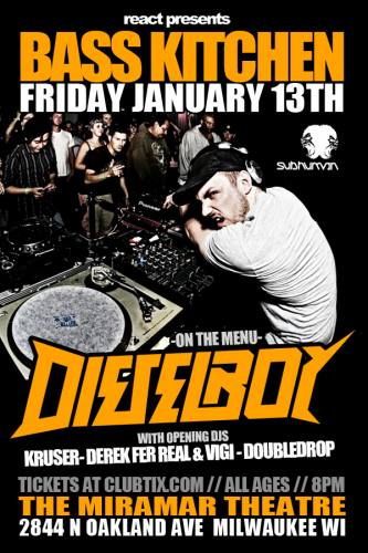 1.13 Bass Kitchen: Dieselboy - Milwaukee