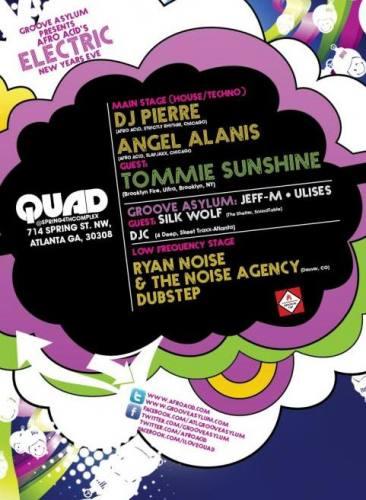 ELECTRIC NYE 2012: TOMMIE SUNSHINE & DJ PIERRE LIVE @ QUAD