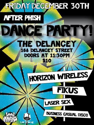 Horizon Wireless / FiKus / Laser Sex @ The Delancey [12.30.11] Post Phish