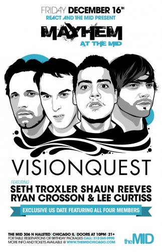 12.16 VISIONQUEST (all four members) - Mayhem at The Mid