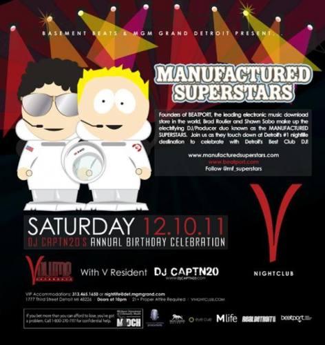 Manufactured Superstars @ V Nightclub