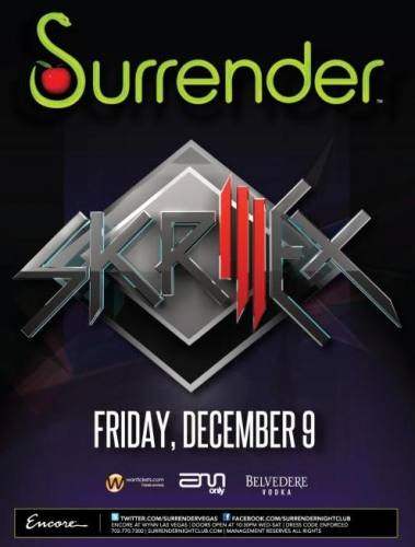 Skrillex @ Surrender (12/9)