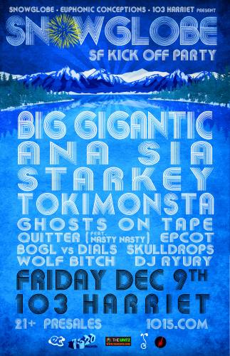 THE OFFICIAL SF SNOWGLOBE KICKOFF PARTY