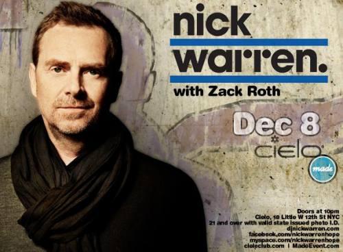 Nick Warren @ Cielo (12/8)