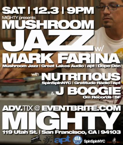 Mark Farina @ Mighty (12/3)