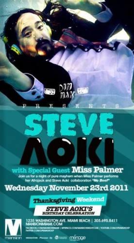 Steve Aoki @ Mansion (11/23)