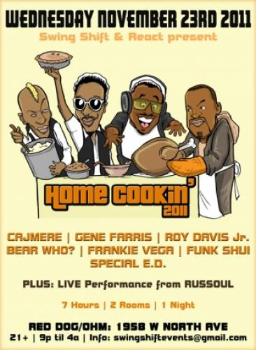 11.23 Home Cookin 11: CAJMERE - GENE FARRIS - ROY DAVIS JR - RED DOG