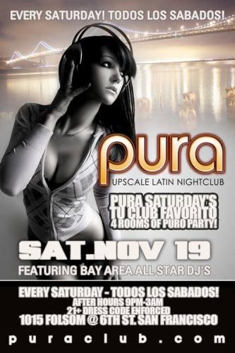 PURA SATURDAYS 11/19