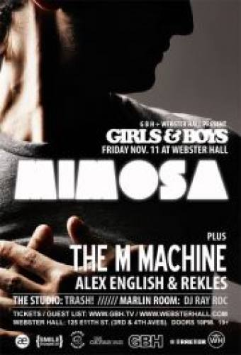 MiMOSA, The M Machine, Alex English, and rekLES @ Webster Hall [11.11.11]