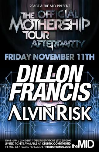 Dillon Francis & Alvin Risk - Official Skrillex Afterparty - The Mid