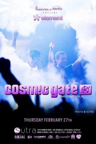 Cosmic Gate @ Sutra (02-27-2014)