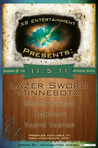 XS Entertainment Presents : LAZER SWORD + MINNESOTA : ATL : 11.5