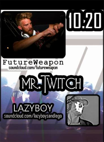 SEISMIC dubstep THUR_OCT 20 w/ FUTUREWEAPON, MR. TWITCH and LAZYBOY