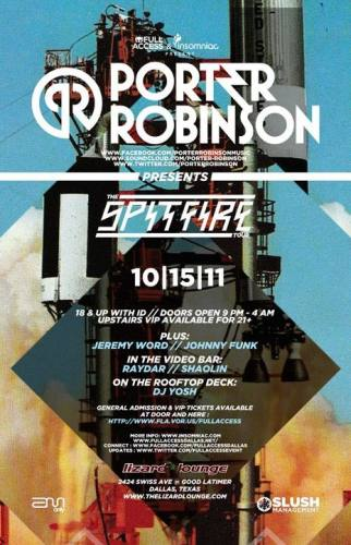 Full Access & Insomniac present PORTER ROBINSON / 10.15.11 / Lizard Lounge