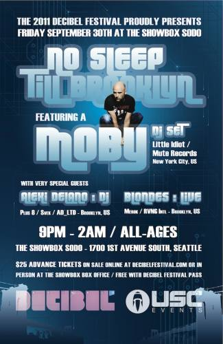 USC & dB Festival present | MOBY | No Sleep Till Brooklyn