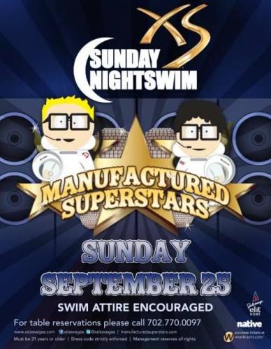 Manufactured Superstars @ XS (9/25)