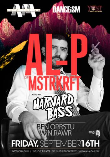 INTO THE AM & Yost Theater Present: Al-P of MSTRKRFT featuring Harvard Bass