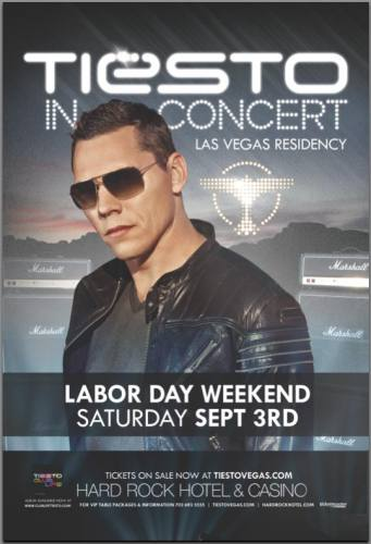 Tiësto at The Joint - Sept 3 - Labor Day Weekend