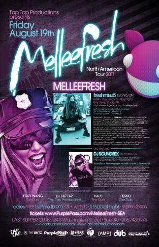 Melleefresh LIVE! North American Tour w/DJ Soundsex