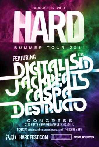 8.12 Digitalism (live), Caspa, Jack Beats at The Congress Theater