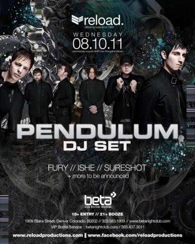 Pendulum (DJ) @ Beta