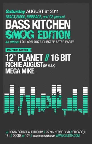 8.6 12th Planet, 16 Bit at Logan Square Auditorium