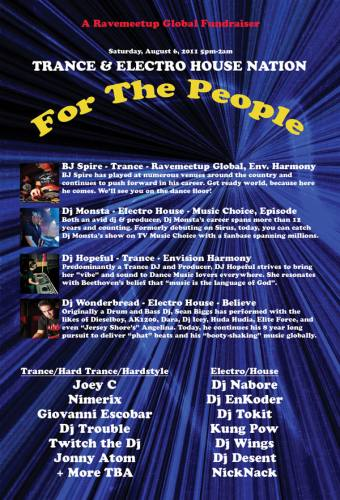 TRANCE & ELECTRO HOUSE NATION - For the People - A Ravemeetup Global Fundraiser!