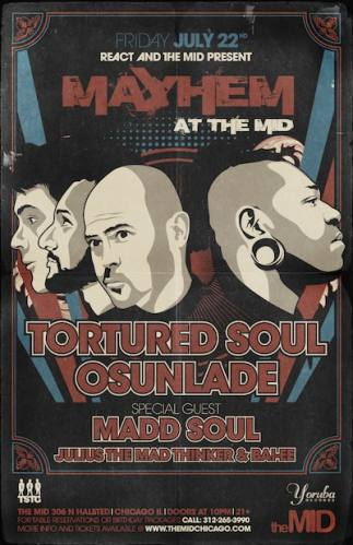 7.22 Tortured Soul, Osunlade, Maad Soul (no cover w/ rsvp) The Mid