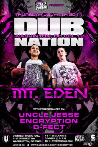 Dub Nation w/ Mt. Eden
