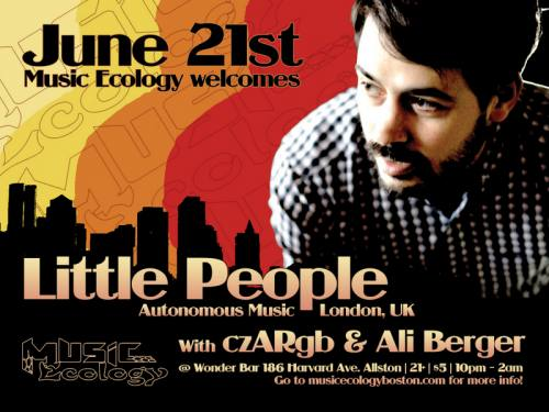 Music Ecology Presents... Little People with czARgb and Ali Berger