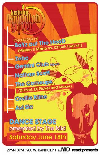 The MID & React Presents: THE DANCE STAGE (10,000% FREE:) - Taste of Randolph Street (June 18th)