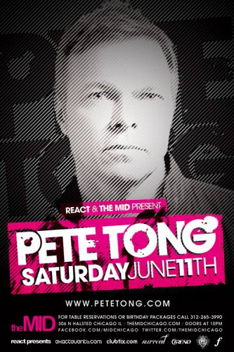 6.11 Pete Tong Control Saturday at The Mid