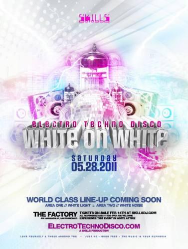 ELECTRO TECHNO DISCO - WHITE ON WHITE