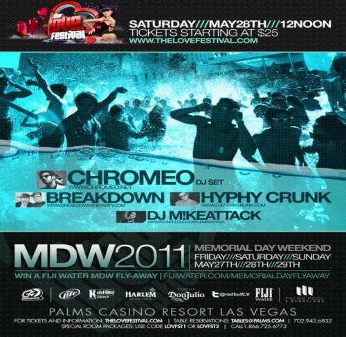 Ditch Saturday Daytime Pool Party Entry ft Chromeo