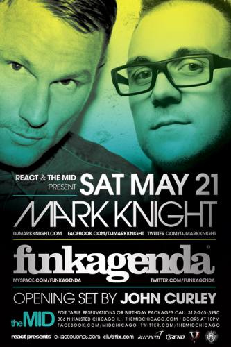 5.21 Mark Knight, Funkagenda, John Curley Control Saturday at The Mid