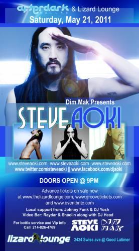 Steve Aoki @ Lizard Lounge (5/21)