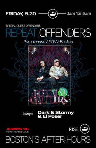 Repeat Offenders @ RISE [Fri 5/20]