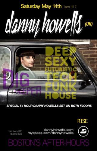 Danny Howells @ RISE Boston [Sat 5/14]