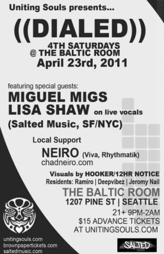 Miguel Migs @ The Baltic Room