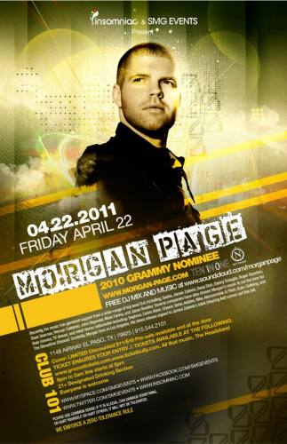 Morgan Page @ Club 101 (4/22)