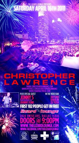 Christopher Lawrence @ Lizard Lounge (4/16)