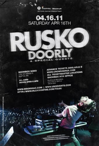 4/16 USC Presents ***RUSKO & DOORLY*** (16+ w/ 21+ Full Bar)