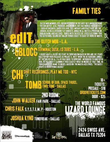 edIT of The Glitch Mob @ Lizard Lounge